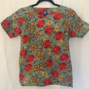 Vintage Gap floral rose t shirt